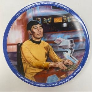 Sulu Helmsman Star Trek Hamilton Collection Plate